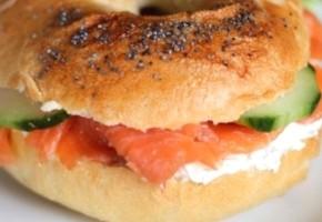 bagel au saumon