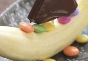 bateau de fruits au chocolat (pour enfant)