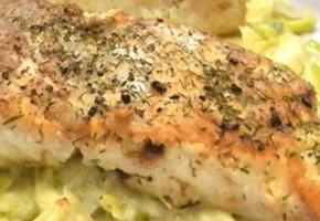 darne de saumon poêlée au beurre d'aneth