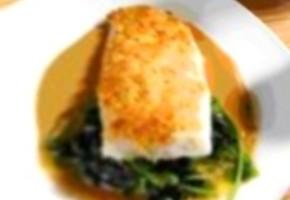 filet de merlu blanc en croûte d'amandes