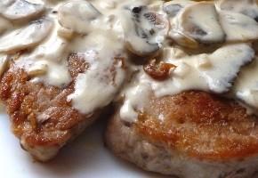 filet mignon aux champignons et lardons