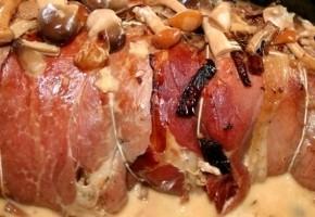 filet mignon au jambon cru et girolles
