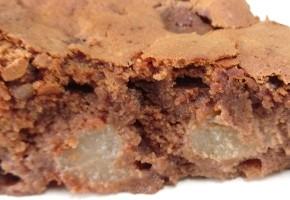 fondant au chocolat et poire