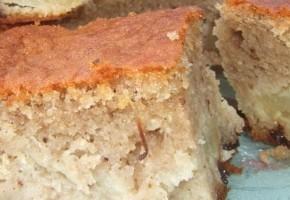 gâteau fondant aux pommes et farine de châtaigne