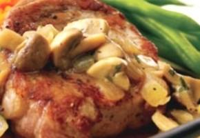 grillades de porc aux champignons en persillade