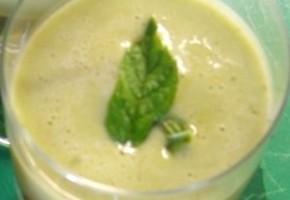 milk shake de fèves à la menthe