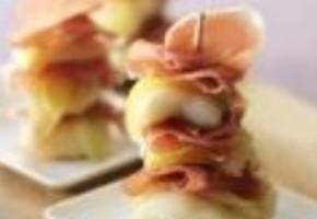 pique de filet de sole et jambon serrano