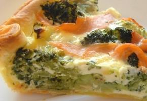 quiche aux brocolis et saumon fumé