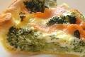 quiche aux brocolis et saumon fume