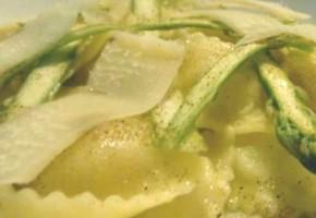raviolis fondants au fromage et asperges
