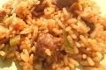 riz pilaf aux merguez