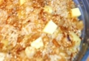 riz vandertop aux oignons, comté, ail et sésame