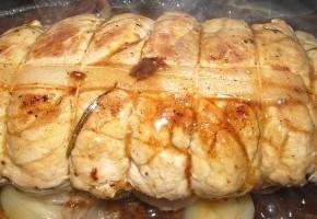rôti de veau à l'orange confite