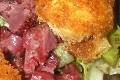 salade de gesiers et chevre chauds