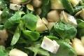 salade de mache, poire et fourme d'ambert