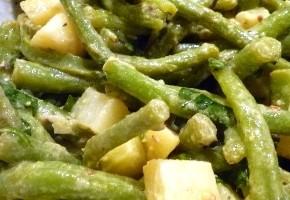 salade de pommes de terre et haricots au safran