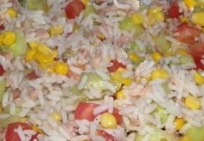 Recette salade de riz au ma s thon poivron et tomate - Salade de riz pour 10 personnes ...