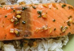 saumon aux saveurs thaïes