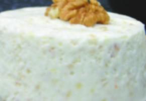 soufflé glacé au roquefort et noix