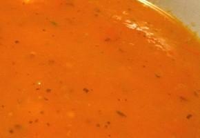 soupe créole aux tomates et agrumes