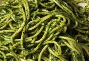 spaghettis à la crème d'épinard