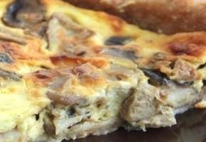 tarte aux champignons et chèvre frais