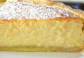 tarte à la ricotta et vanille