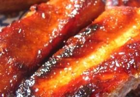 travers de porc caramélisé au miel