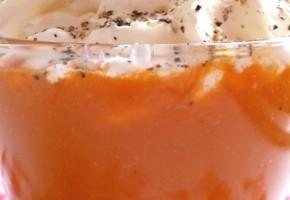velouté de carotte et sa chantilly au thym